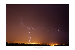 Calais under lighting (Emmanuel DEPARIS) Tags: lighting storm france night de pas nuit emmanuel calais orage nord arcus deparis