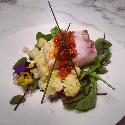 #delicious #seabass #mashed #pansy