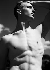 (Steven Sites) Tags: gay boy portrait bw white man black sexy guy monochrome sex canon greek eos 50mm mark hunk twink stefan ii lgbt 5d steven grayscale f18 abs sites goncalvez