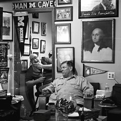 Man Cave (Something Sighted) Tags: blackandwhite night square noiretblanc pennsylvania streetphotography newtown buckscounty mancave scnederue