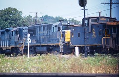 NORTH JUDSON, INDIANA (rrradioman) Tags: west north indiana august caboose co 1972 signal judson 3106 gp7 6207 8118 u25b