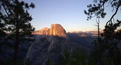 *Please* click large size to see in the shadows. :0) Press L (ℙαґḯṧḯ℮ηηε) Tags: california sunset halfdome yosemitenationalpark granitemonolith