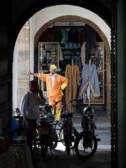 look me in the eyes (VI) (pix-4-2-day) Tags: man mannequin look shop store garbage arch clothes morocco maroc casablanca mann bazaar moped dummy schaufensterpuppe mllmann marokko dustbin basar kleidung dustman torbogen pix42day