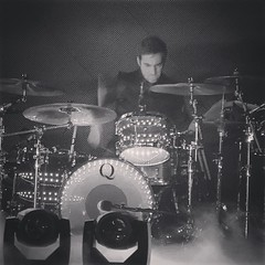 @darthstallion (Adam Marcello) kicking the shit out of some drums on the @Katyperry #prism tour! Q would not exist without this guy. #qdrumco #katyperry #tivoli