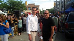 Monte catches up with Taste of the Danforth organizer  Henry Lichtman