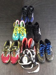 Asics running shoes- 10Asics lyte flex- 9-9.5Asics aggressors- 9.5Cb4s- 9Asics aggressor 2s- 9.5Asics rulons- gone (Ethan[] 704-773-8430) Tags: blue speed shoes 10 wrestling 9 running asics combat 95 aggressors rulons