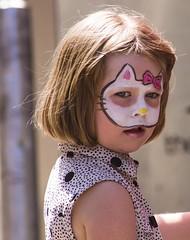 Hello Kitty (lorna hayton) Tags: street summer face paint child glasgow