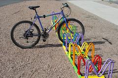 Parking lot II (Explore) (Rudi Pauwels) Tags: colors bike bicycle göteborg nikon sweden schweden gothenburg sverige sigma1850mm 1850mm lillabommen d7100 kulturkalaset kulturkalas nikond7100