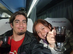 Wine in the bus