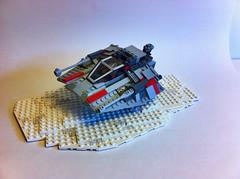 Rebel Snowspeeder (tyfighter07) Tags: snow rebel star starwars back lego five v empire sw wars strikes episode speeder hoth moc snowspeeder brickbuilder7