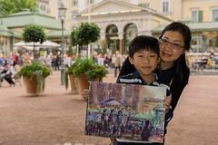 Iris & Kenny - Strangers # 930 / 1000 (Poupetta) Tags: iris helsinki mother strangers son tourists artists kenny painters
