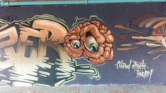 My brain hurts by CFS (Digger Barnes) Tags: bridge streetart amsterdam graffiti eyes mural hungary brain cec cfs coloredeffects coloredeffectscrew