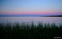 Lake Huron Sunset (mswan777) Tags: sunset sky lake color water up grass nikon michigan north polarizer straits huron mackinac mackinaw d5100