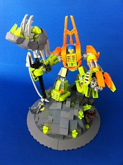 The end of the Crystal King (Hen Peril) Tags: monster rock king power lego crystal hard suit miner mech moc