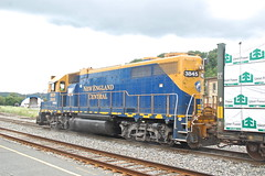 Great Day in Vermont (JaiJad) Tags: white train river vermont junction flatbed freighttrain 1907 alco freightyard necr newenglandcentral ccrr