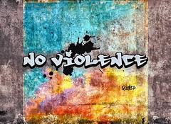 No Violence (Taymaz Valley) Tags: uk cambridge usa toronto canada paris france berlin london art japan vancouver america germany graffiti tokyo march persian washington artist iran montreal ottawa iranian