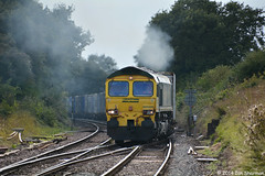 66509 18th Aug 2014 Westerfield (Ian Sharman 1963) Tags: street station train diesel shed engine loco 18th 66 class container locomotive aug heavy lawley felixstowe haul 2014 freightliner westerfield 66509