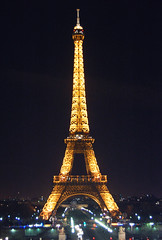 Paris 02 (happy_music) Tags: paris france night europe toureiffel 夜景 フランス パリ エッフェル塔 nightseeing trocadérogardens