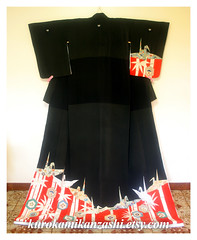 Orizuru - Paper Crane (Kurokami) Tags: ladies girls woman toronto ontario canada girl japan lady butterfly paper asian japanese dance women asia crane traditional tortoise shell knot bamboo maiko geiko geisha kimono mon odori kitsuke kamon orizuru hikizuri susohiki kikkou