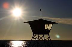 Lifeguard Tower in Oulu (mleaflet) Tags: sunset sea sun beach finland balticsea shore oulu