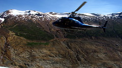 Get In Tha Choppah! (Dru!) Tags: blue canada mountains work bc britishcolumbia air helicopter geology exploration seabridge coastmountains mineralized ksm gossan lakelse unukriver boundaryranges mitchellgacier snowfieldslide