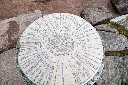 White Mounth: Lochnagar viewpoint indicator