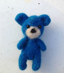 Blue the needle felted bear