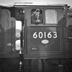 When I grow up.. (SPIngram) Tags: bw white black castle train engine railway class steam dorset driver locomotive corfe tornado swanage huw parker peppercorn lner 60163