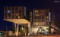 Oosterdokseiland : Hotel. (alamsterdam) Tags: amsterdam hotel associates architects oosterdokseiland bennetts eveninglongexposure