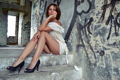 . (FOTO.Michaela) Tags: summer woman white cute lady graffiti nikon pretty czech chick honey brunette somewhere someday ostrava 2014 buauty d3100