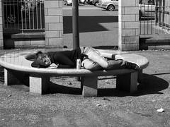 Someone sleeping in black & white (chrisinplymouth) Tags: uk sleeping england monochrome plymouth devon grayscale asleep img unionstreet greyscale plymgrp cw69x chrisinplymouth
