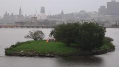 an Ottawan idyll (jwc 3o2) Tags: camping tent hull ottawariver maryisland
