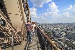 Eiffel Tower (WarpFactorEnterprises) Tags: summer paris france tower seine river view elevator eiffel montparnasse 2014