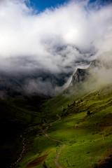 Rising of a sea of clouds, Cauterets ((Virginie Le Carré)) Tags: cloud montagne landscape ombre nuage paysage lightandshadow montain pyrenees pyrénées seaofclouds cauterets merdenuages lelys