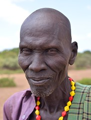 Chief, Dassanech Tribe, Ethiopia (Rod Waddington) Tags: africa portrait beads chief south traditional tribal valley warrior ethiopia tribe ethiopian omo dassanech omerate