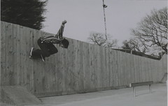 Tom Rides the Wall (Casey Mark Brown) Tags: blackandwhite bw london film 35mm skateboarding pentax kodak grain skate portsmouth vans cheesey supreme petersfield nikesb sp500