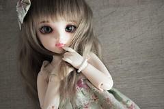 New eyes  - Littlefe Chlo (Loony-Doll) Tags: littlefee chloe littlefeechloe custo custom customise makeup wig leekeworld acryliques doll dolls fairyland bjd
