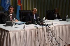 Member of the UN Security council addressing tghe press of DRC during thier visit. (MONUSCO) Tags: unsc drc rdc monusco