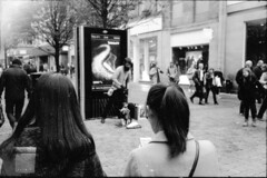 Watching the puppet man (Stuart Grout) Tags: bwfp leica m2 ilford hp5 manchester film puppet