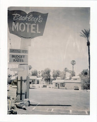 Cathedral City, CA (moominsean) Tags: polaroid 190 instant type664 expired082005 california cathedralcity palmsprings beckleysmotel desert southwest midcentury