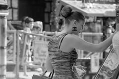 Knot gambling (Wookiee!) Tags: girl woman young pretty beauty brunette meisje vrouw jong knap schoonheid kermis fair gokken gambling knotje knot dress jurk candid zomer summer warm hot canon d550 dlsr 18200mm sigma lens bw monochrome zwartwit black white blackandwhite noiretblanc zwart wit photoshop cc2015 shertogenbosch den bosch 073 noordbrabant duketown the netherlands holland dutch nederland nl hollands