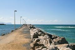 Sep 22: Terrasini Pier 1, Sicily (johan.pipet) Tags: flickr sea more sicily sicilia italy taliansko eu europe pier molo mediterranian sunny autumn seascape water travel palo bartos barto canon skyline