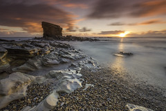 Breakfast with Charley (Pureo) Tags: seascape sea sky seatonsluice rocks pebbles sunrise sunburst sunny longexposure le leefilters littlestopper light northeast northumberland northsea northeastengland canon canon6d clouds