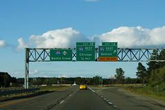 M66nRoad-BecomesInt194-Exit1AB-Int94ew (formulanone) Tags: michigan road sign m66 66 i194 194 94 i94