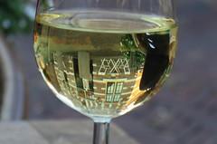 A particle of the world (Elisa1880) Tags: nederland netherlands wijnglas glass wine reflection reflectie monnickendam deeltje van de wereld particle world
