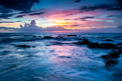 fade into blue (Ben McLeod) Tags: hawaii maui pacificocean beach clouds dusk longexposure ocean sunset