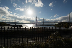 Forth Road Bridge #4 (Claire Stones) Tags: forthroadbridge sun october nikon cloud northqueensferry clouds firthofforth bluesky scotland forth