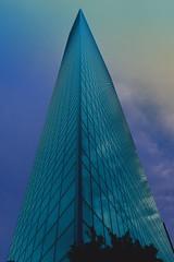 Dentsu Building (Matthias Harbers) Tags: dentsubuilding minato tokyo japan building architecture reflection glass sky evening blue nikon nikon1 v3 11 nikkor 6713mm f3556 vr city dxo topaz labs photoshop elements raw nef flickraward shiodome
