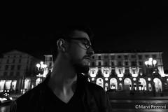 Bob by night (MarviMPZ) Tags: portrait ritratto friend amico bnw biancoenero lights luci shadows ombre torino turin night sera marvipezzoni