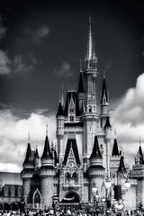 Fantasy Castle (mdavies149) Tags: casttle fantasy bw florida usa orlando disney magickingdom holiday nikon d600 michaeldavies